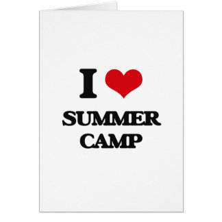 I love Summer Camp Greeting Card