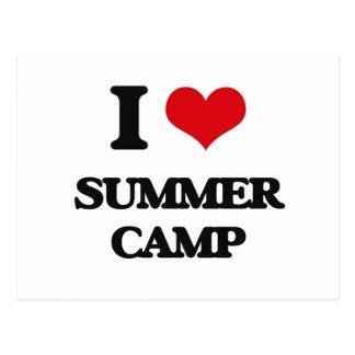 I love Summer Camp Postcard