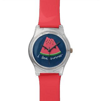 I Love Summer Cute Watermelon Watches