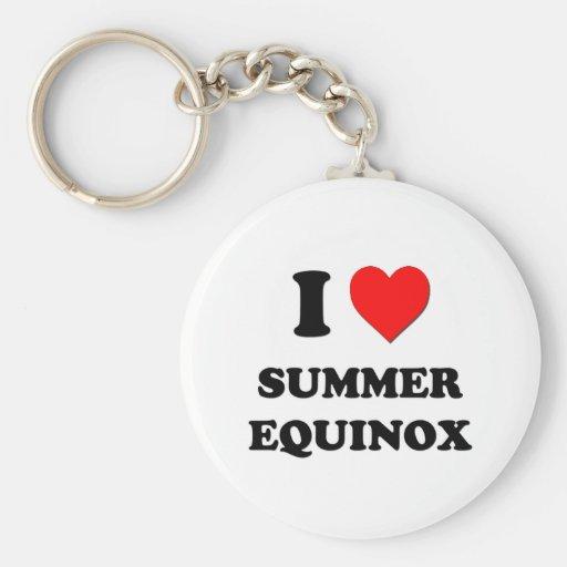 I love Summer Equinox Basic Round Button Keychain