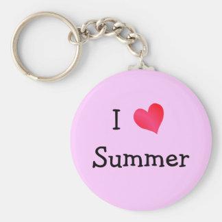 I Love Summer Keychain