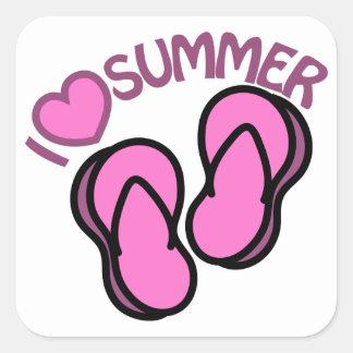 I Love Summer Square Sticker