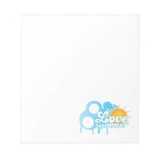I Love Summer Sunny Notepad