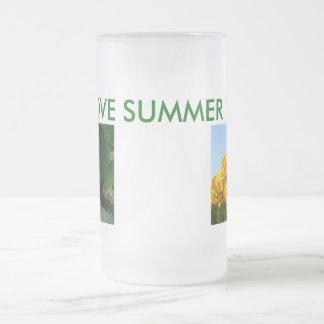 I LOVE SUMMER TIME 16 OZ FROSTED GLASS BEER MUG