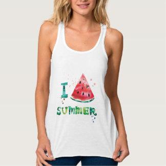 I love summer watermelon tank top