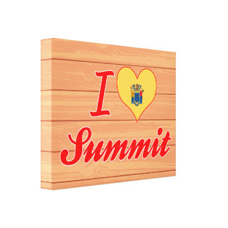 I Love Summit, New Jersey Canvas Print
