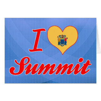 I Love Summit, New Jersey Greeting Cards