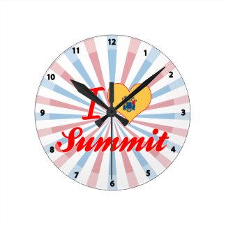 I Love Summit, New Jersey Wallclocks