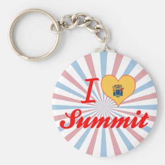 I Love Summit, New Jersey Keychain