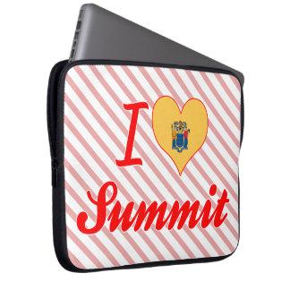 I Love Summit, New Jersey Laptop Sleeve