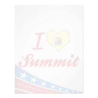 I Love Summit, New Jersey Letterhead Template