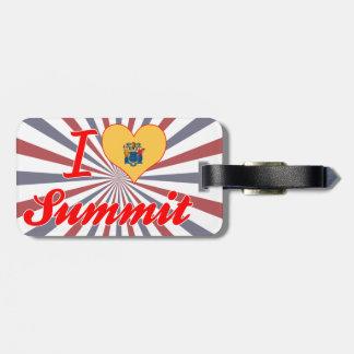 I Love Summit, New Jersey Travel Bag Tag
