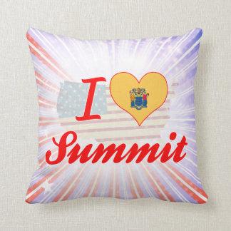 I Love Summit, New Jersey Throw Pillow