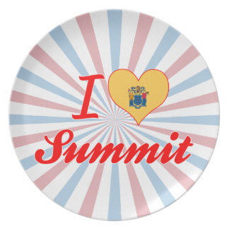 I Love Summit, New Jersey Plate