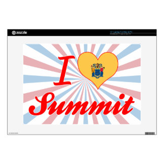 """I Love Summit, New Jersey Skins For 15"""" Laptops"""