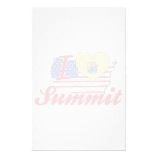 I Love Summit, New Jersey Personalized Stationery