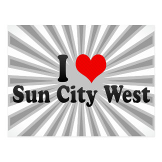 I Love Sun City West, United States Postcard