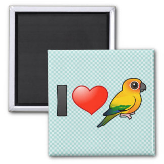 I Love Sun Conures Magnets