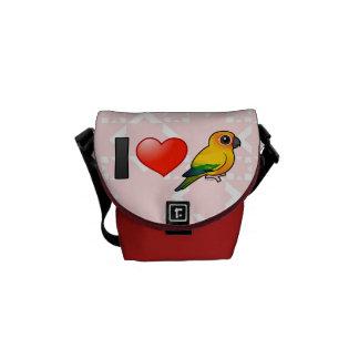 I Love Sun Conures Messenger Bag