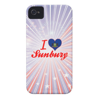 I Love Sunbury, Pennsylvania iPhone 4 Case