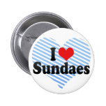 I Love Sundaes Pinback Buttons