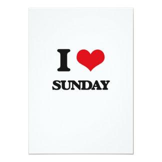 I love Sunday 5x7 Paper Invitation Card
