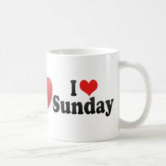 I Love Sunday Classic White Coffee Mug