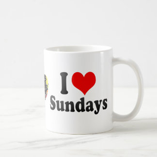 I Love Sundays Classic White Coffee Mug