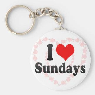 I Love Sundays Keychains