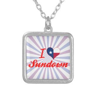 I Love Sundown, Texas Personalized Necklace