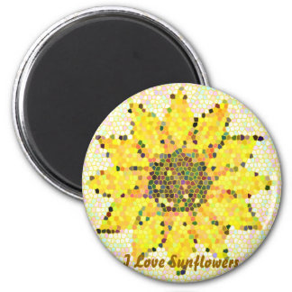 I Love Sunflowers Magnet