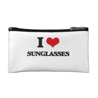 I love Sunglasses Cosmetic Bag