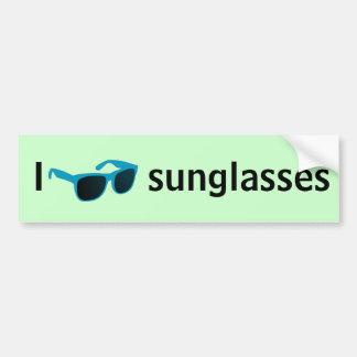 I love sunglasses car bumper sticker