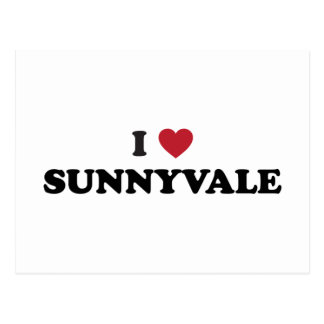 I Love Sunnyvale California Postcard