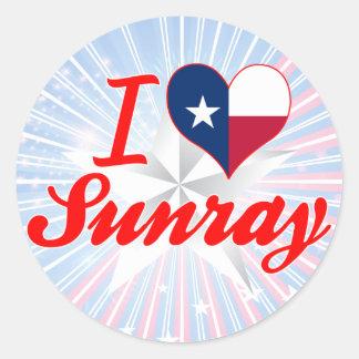 I Love Sunray, Texas Stickers