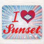 I Love Sunset, Arkansas Mouse Pad