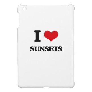 I love Sunsets iPad Mini Cover