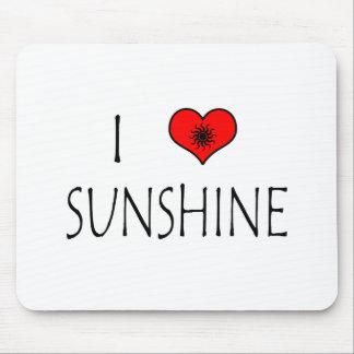 I Love Sunshine Mouse Pad