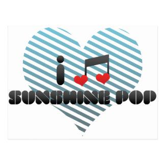 I Love Sunshine Pop Postcard