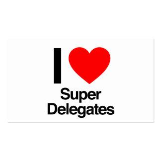 i love super delegates Double-Sided standard business cards (Pack of 100)