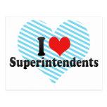 I Love Superintendents Postcard