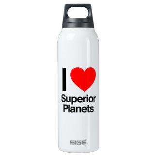 i love superior planets 16 oz insulated SIGG thermos water bottle