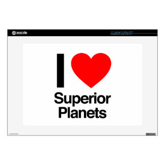 "i love superior planets decal for 15"" laptop"