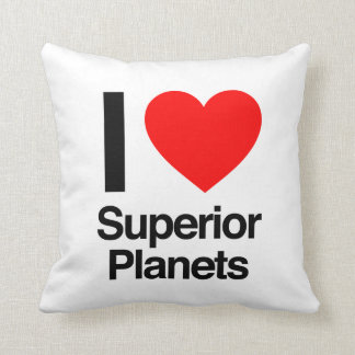 i love superior planets pillow