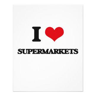 "I love Supermarkets 4.5"" X 5.6"" Flyer"