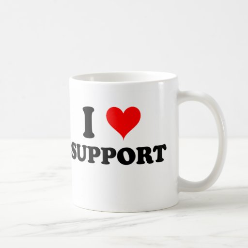 I Love Support Classic White Coffee Mug