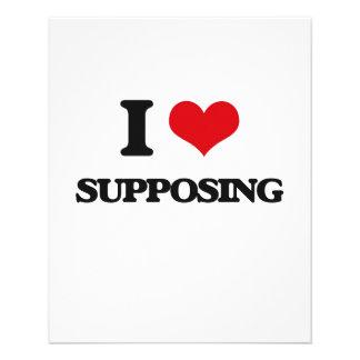 "I love Supposing 4.5"" X 5.6"" Flyer"