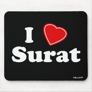 I Love Surat Mouse Pad