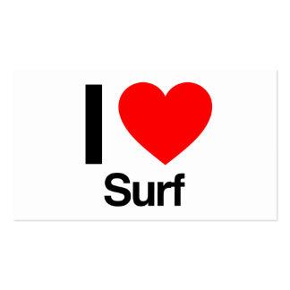 i love surf business card