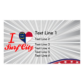 I Love Surf City, North Carolina Business Card